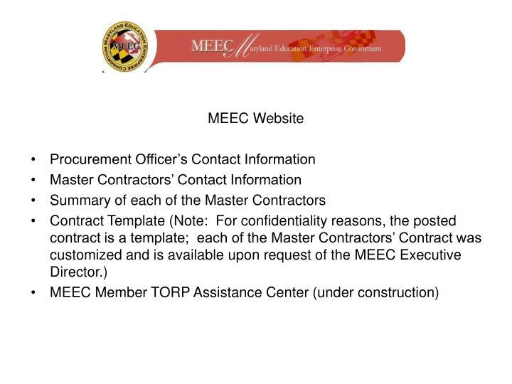 MEEC Website
