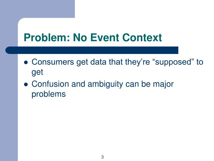 Problem: No Event Context