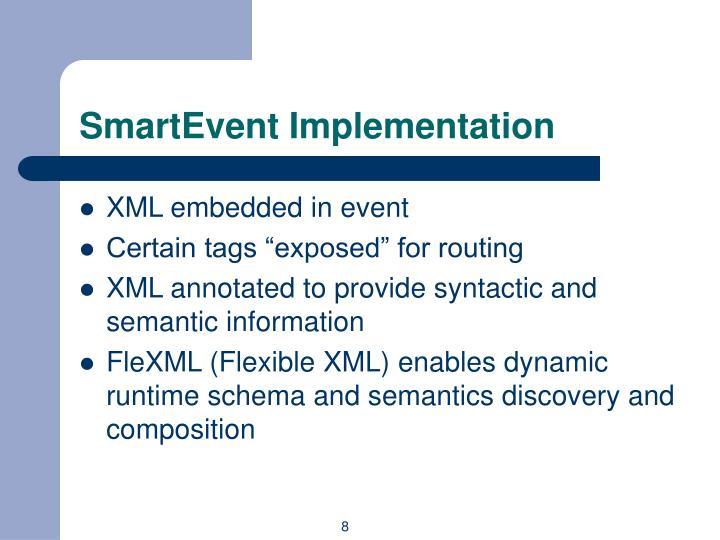 SmartEvent Implementation