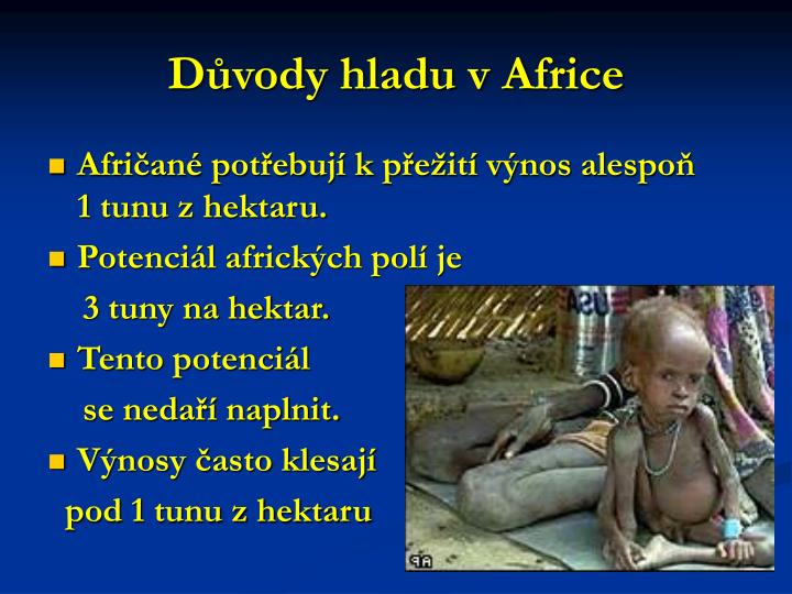Důvody hladu v Africe