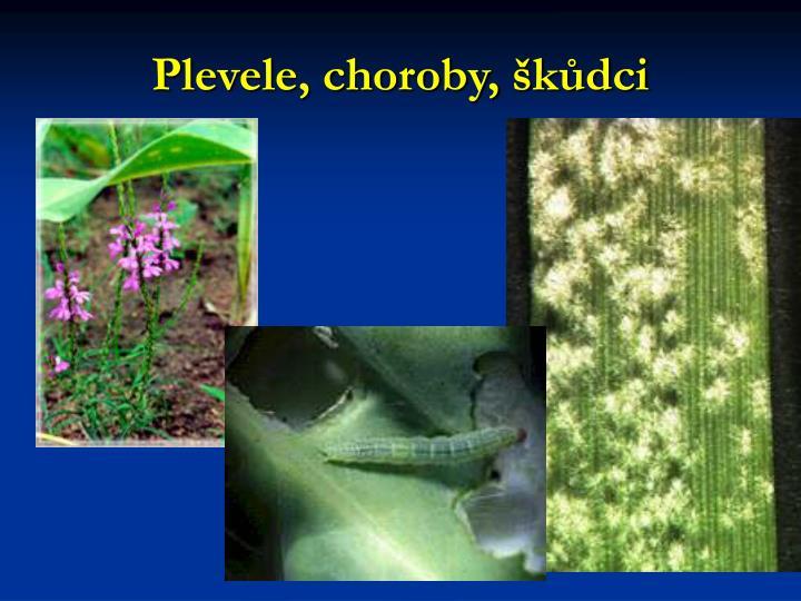 Plevele, choroby, škůdci