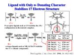 ligand with only donating character stabilizes 17 electron structure