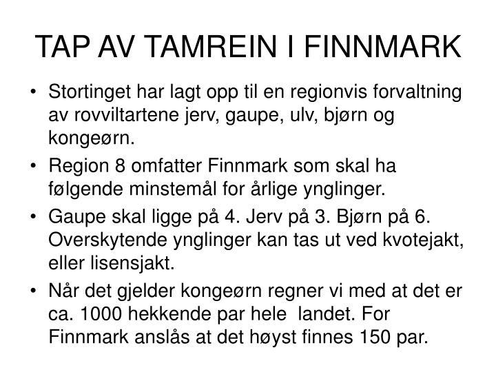 TAP AV TAMREIN I FINNMARK