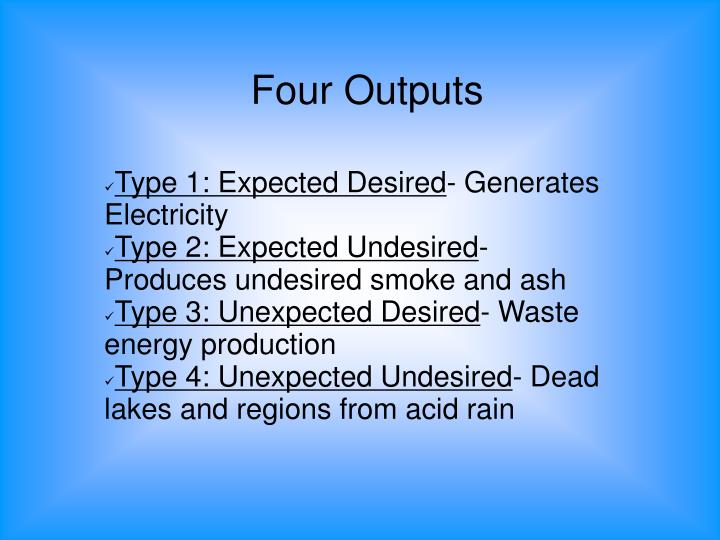 Four Outputs