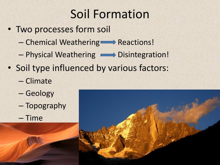 Ppt soil and soil moisture from measurement to for Soil formation