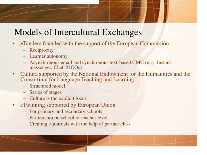 Models of Intercultural Exchanges