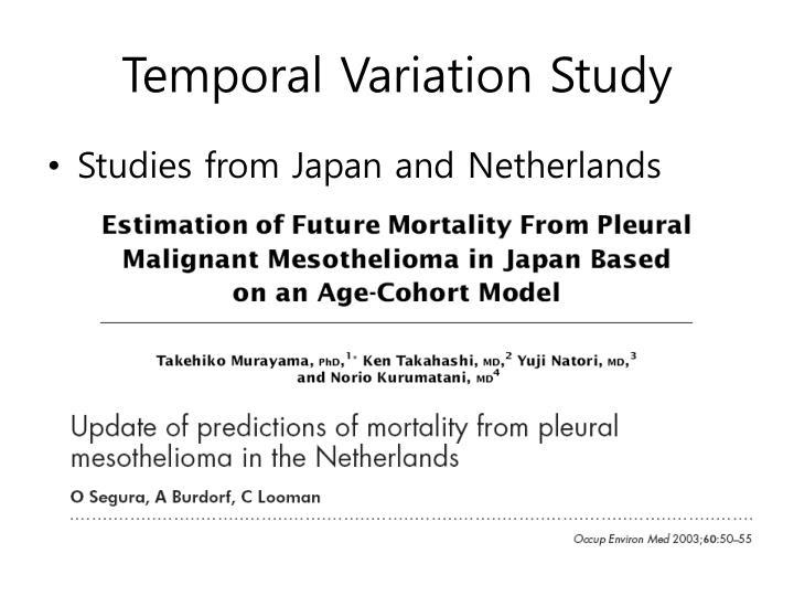 Temporal Variation Study