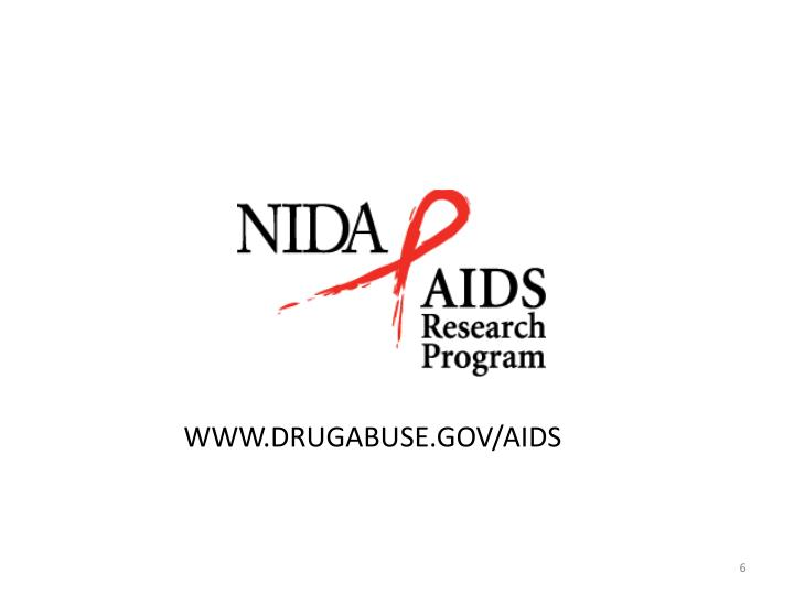 WWW.DRUGABUSE.GOV/AIDS