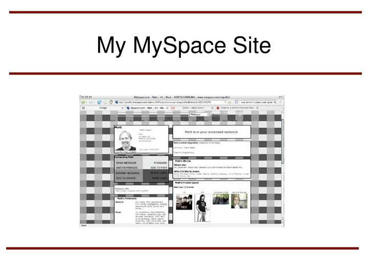 My MySpace Site