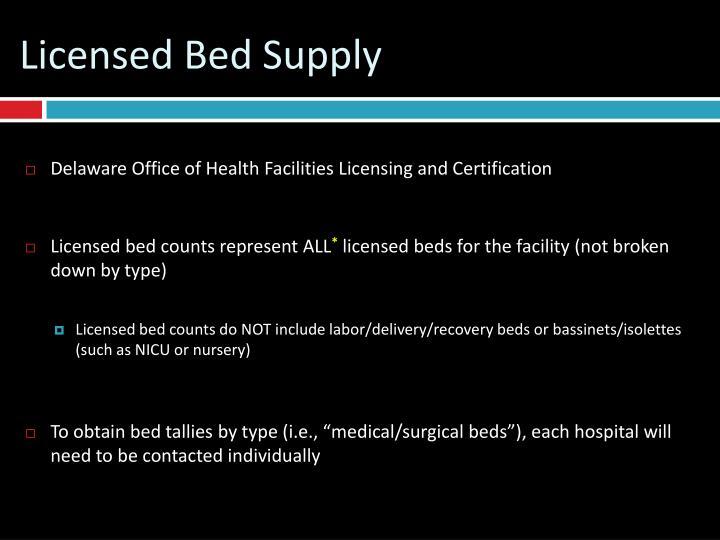 Licensed Bed Supply