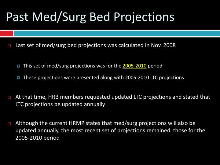 Past med surg bed projections