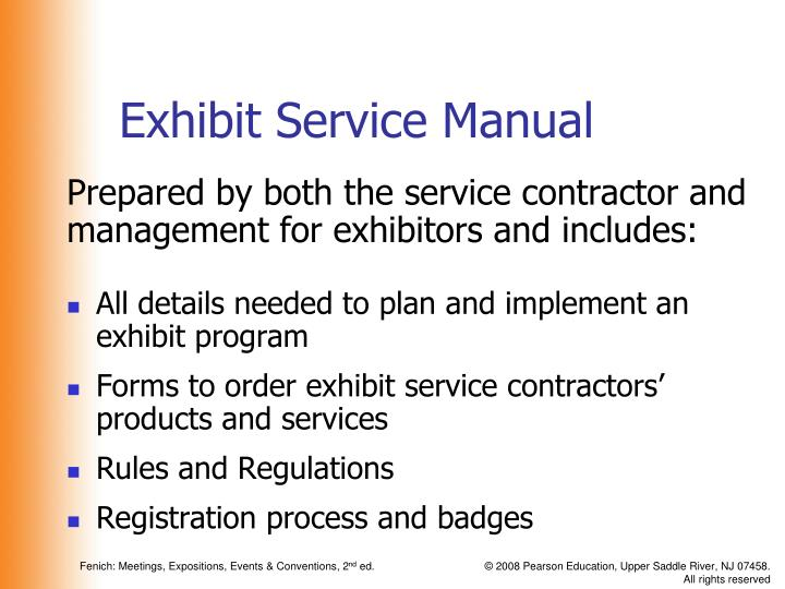 Exhibit Service Manual