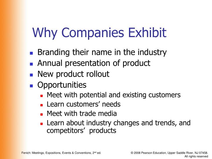 Why Companies Exhibit