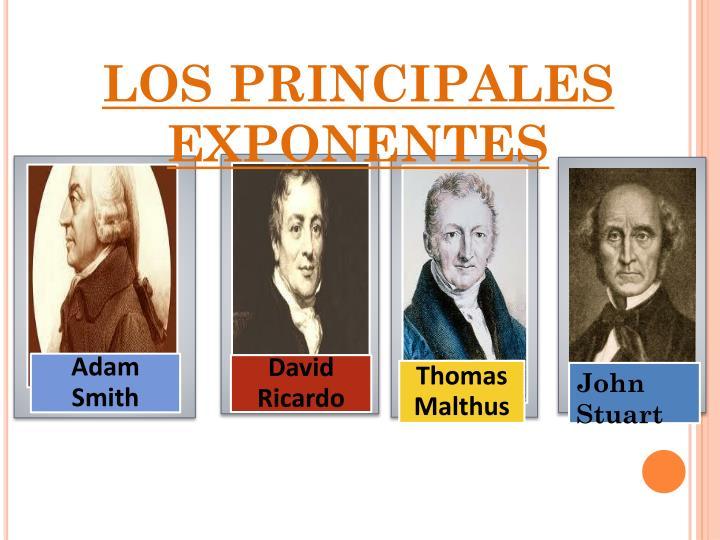 LOS PRINCIPALES EXPONENTES