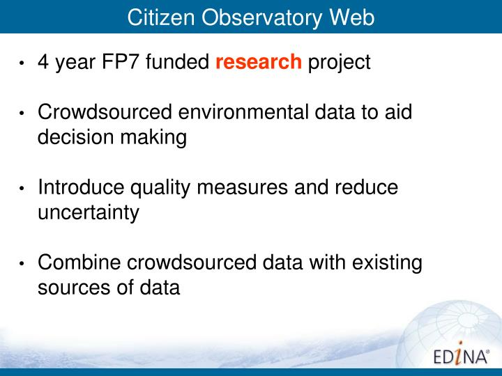 Citizen Observatory Web