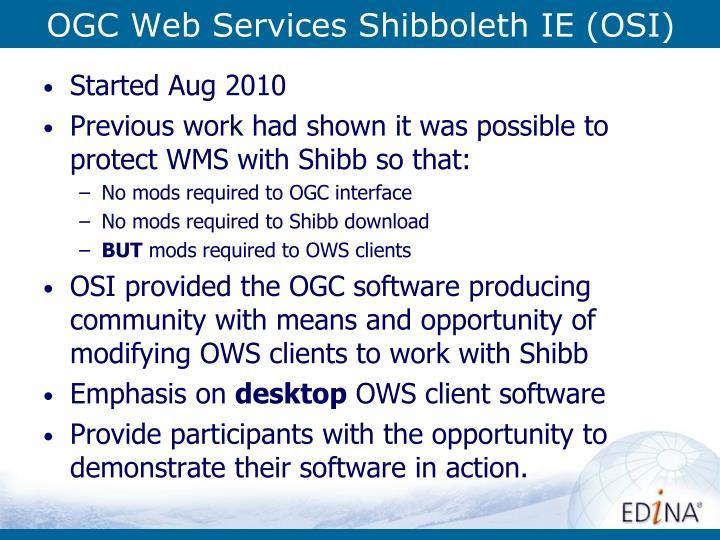 OGC Web Services Shibboleth IE (OSI)