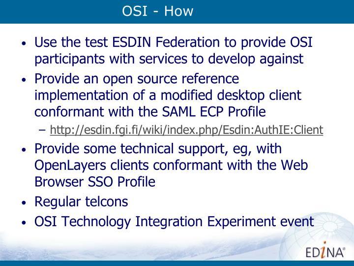 OSI - How