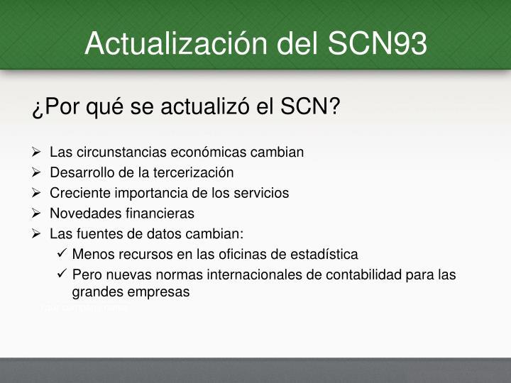 Actualización del SCN93