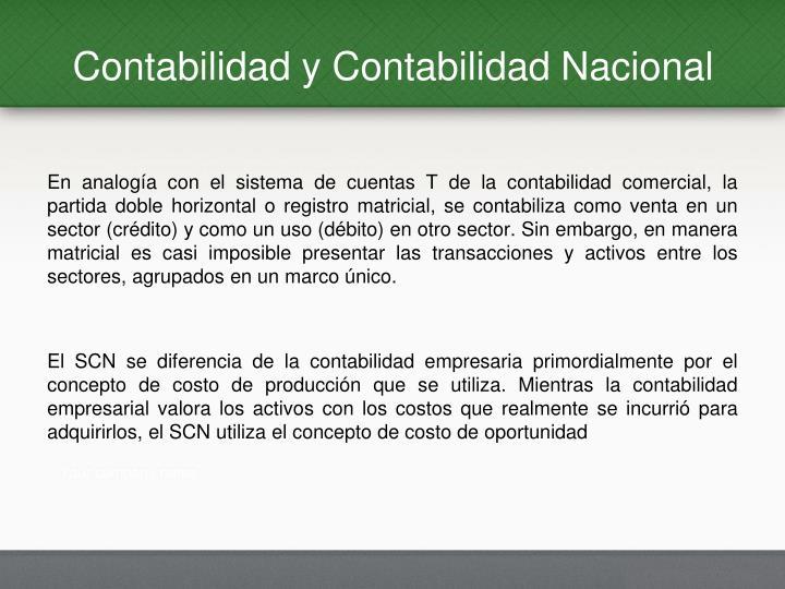 Contabilidad y Contabilidad Nacional