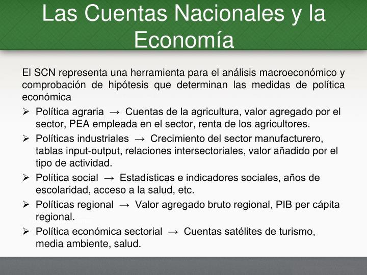 Las Cuentas Nacionales y la Economía