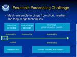 ensemble forecasting challenge