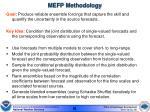 mefp methodology