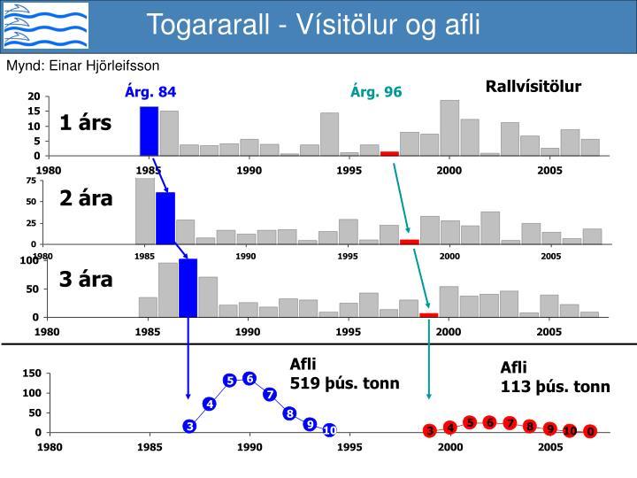 Togararall - Vísitölur og afli