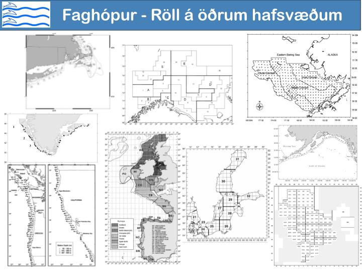 Faghópur - Röll á öðrum hafsvæðum