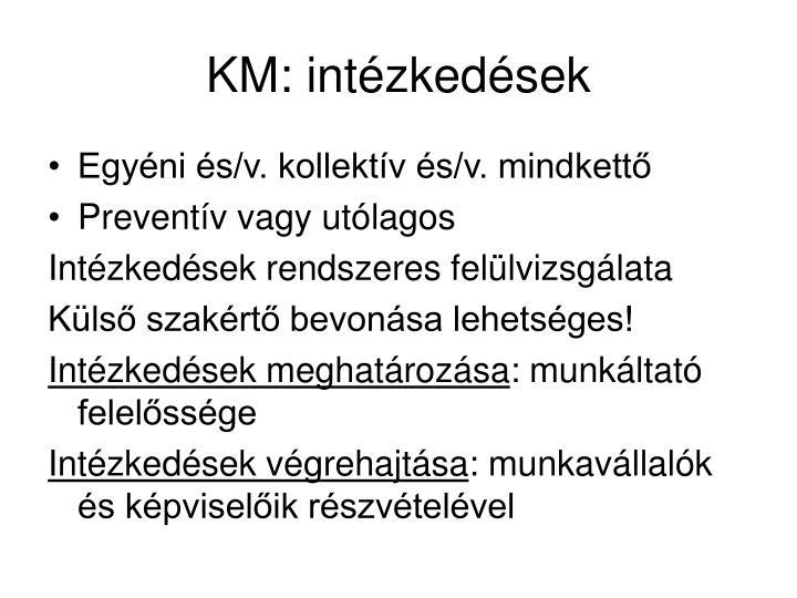 KM: intézkedések