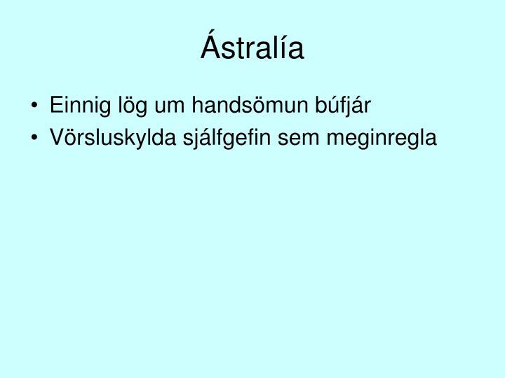 Ástralía