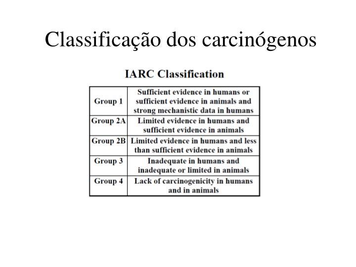 Classificação dos carcinógenos