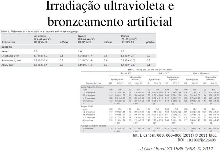 Irradiação ultravioleta e bronzeamento artificial