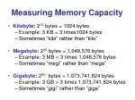 measuring memory capacity