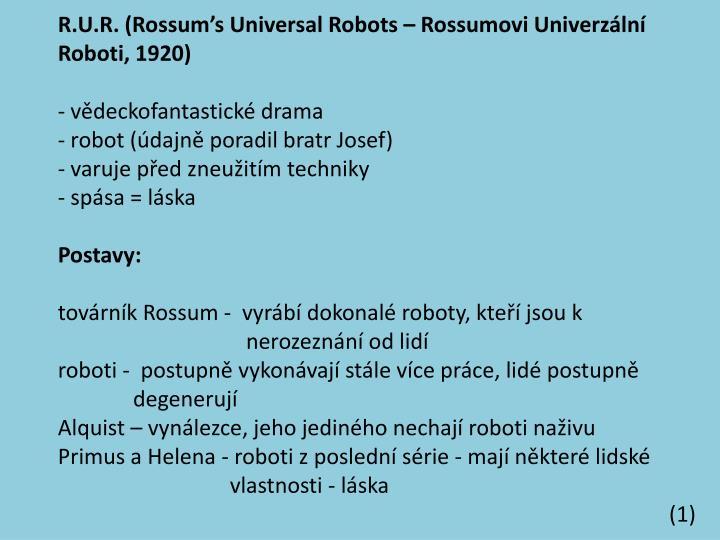 R.U.R. (