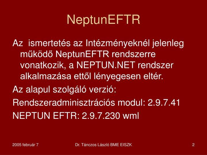 NeptunEFTR