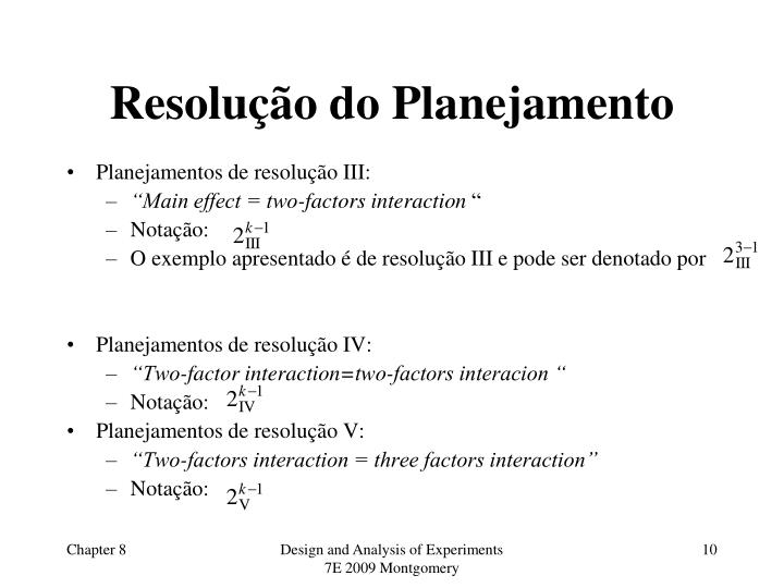Resolução do Planejamento