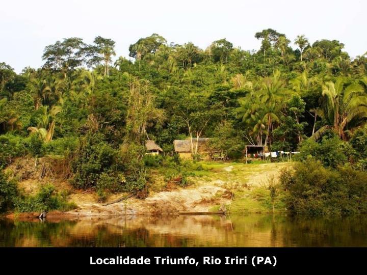 Localidade Triunfo, Rio Iriri (PA)