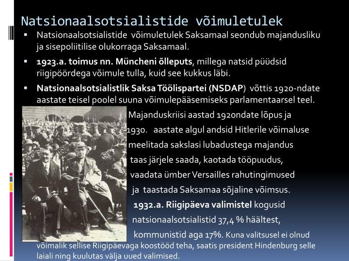 Natsionaalsotsialistide võimuletulek