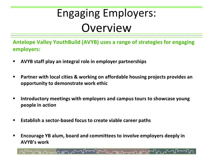 Engaging Employers: