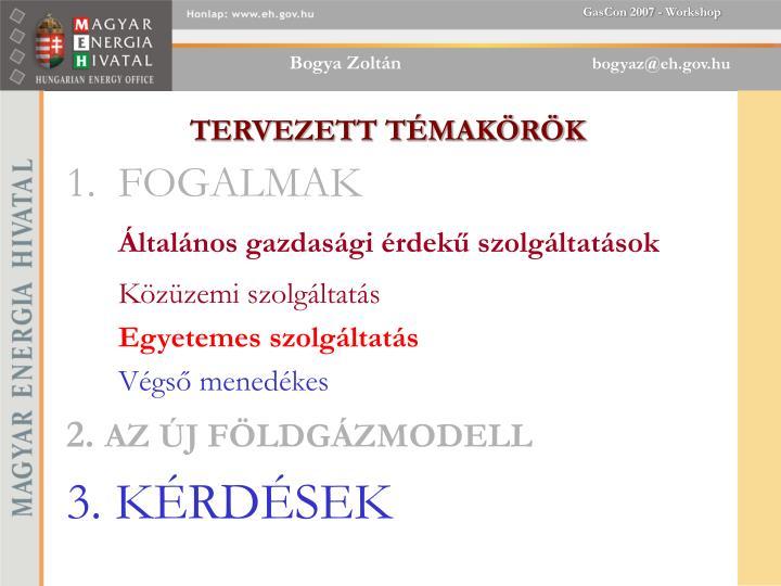 TERVEZETT TMAKRK