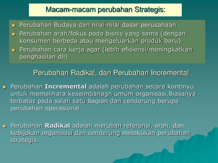 Macam-macam perubahan Strategis: