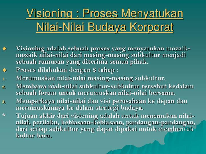 Visioning :