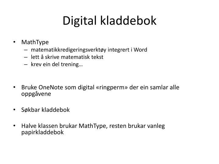 Digital kladdebok