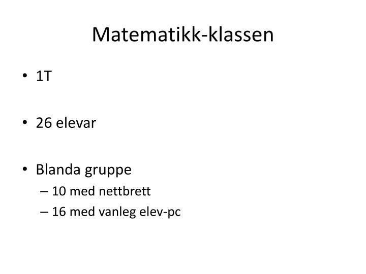 Matematikk-klassen