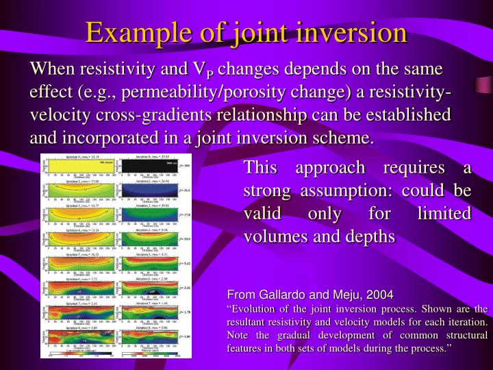 Example of joint inversion