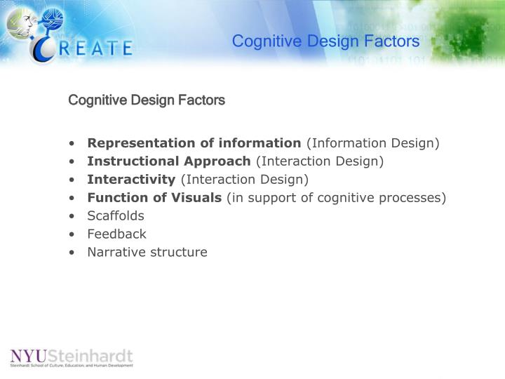 Cognitive Design Factors