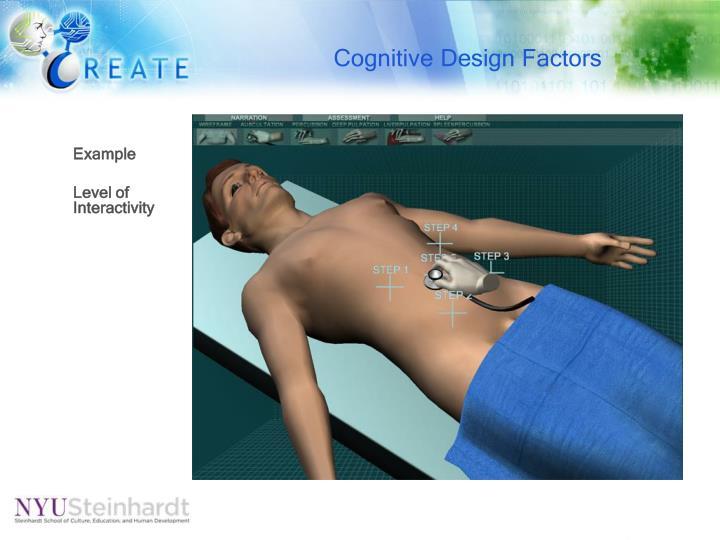 Cognitive Design Factors