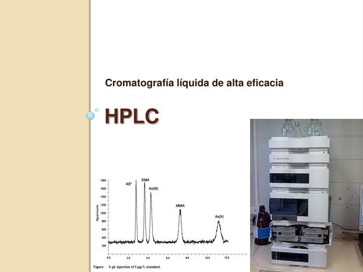 Cromatografía líquida de alta eficacia