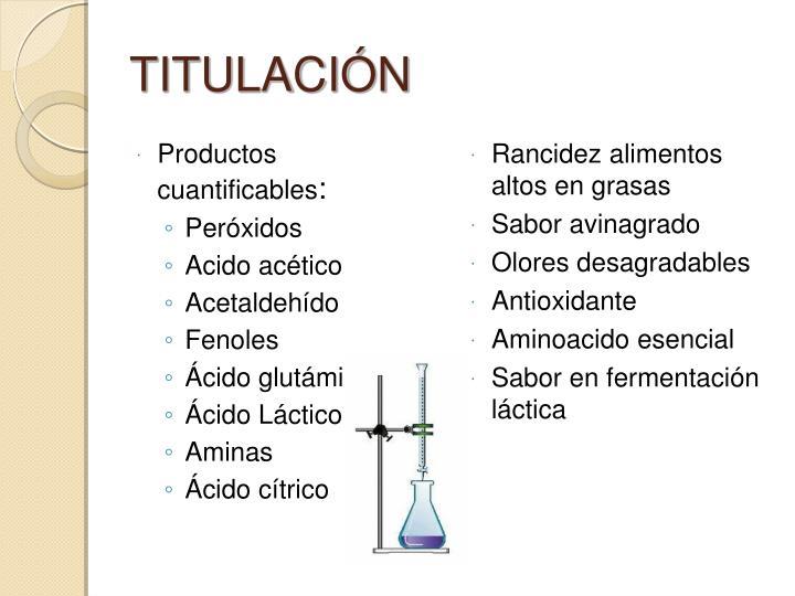 Productos cuantificables