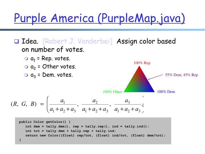 Purple America (PurpleMap.java)